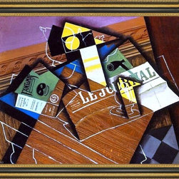 """Art MegaMart - Juan Gris Fantomas - 16"""" x 20"""" Framed Premium Canvas Print - 16"""" x 20"""" Juan Gris Fantomas framed premium canvas print reproduced to meet museum quality standards. Our Museum quality canvas prints are produced using high-precision print technology for a more accurate reproduction printed on high quality canvas with fade-resistant, archival inks. Our progressive business model allows us to offer works of art to you at the best wholesale pricing, significantly less than art gallery prices, affordable to all. This artwork is hand stretched onto wooden stretcher bars, then mounted into our 3 3/4"""" wide gold finish frame with black panel by one of our expert framers. Our framed canvas print comes with hardware, ready to hang on your wall.  We present a comprehensive collection of exceptional canvas art reproductions by Juan Gris."""