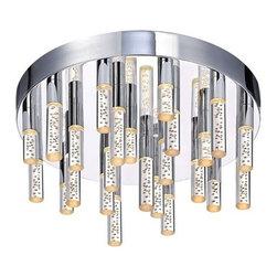 Sonneman - Sonneman | Champagne Staccato 24-Light LED Flush Mount - Design by Robert Sonneman.