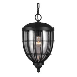 Murray Feiss - Murray Feiss OL9811TXB River North 1 Bulb Textured Black Outdoor Lantern Hanging - Murray Feiss OL9811TXB River North 1 Bulb Textured Black Outdoor Lantern Hanging