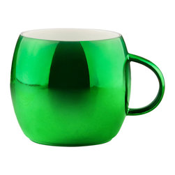 Adnart - Polished Sparkling Mugs - Green - Bright festive colors. These high gloss, polished and plated mugs shimmer with intense sparkling colors.