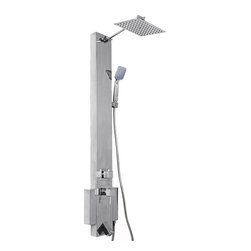 AKDY - AKDY Shower Panel Tower Overhead Rainfall Spa Stainless Steel Chrome AK-Z331537 - This new AKDY luxurious shower panel has just newly arrived to North America and it is one of the best shower panels you can find in the market. The body of the shower panel is made of high quality Stainless Steel in chrome finish. It comes with several functions, including an overhead rainfall shower, hand-held showerhead and tub spout. Two controllers are added to control the functions and water temperature. By buying this unique and lavishing shower panel, you would be able to enjoy a higher level of showering experience after every day's hard work!