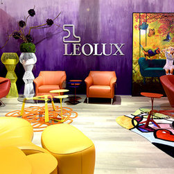 """Leolux Gallery at the Dallas Showroom - All Cantoni stores are well known for featuring a variety of inspiring and sophisticated vignettes and settings that are constantly changing to help clients envision how pieces could look in their home. At our Dallas, flagship store, we have the luxury of space to play with concepts such as """"shop-in-shop"""" stores. These mono-branded spaces feature select lines like Natuzzi Italia, Cattelan Italia, Calligaris and our latest Leolux. Visual Display and Special Projects Manager Anne Mancuso, and her talented team have created a one-of-kind space that perfectly captures the spirit of Leolux. This vivid and eclectic new space is one you truly have to see to believe. Discover Anne's inspiration and design process on the Cantoni Blog here: http://cantoni.com/blog/2014/10/first-look-cantoni-dallas-new-leolux-gallery/"""