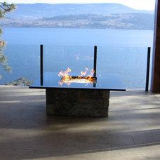 Modern Firepits by Okanagan Fireplace Den Ltd.