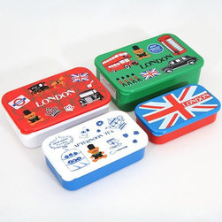 London Sherlock Holmes Bento Box 4 pcs Lunch Box - London Sherlock Holmes Bento Box 4pcs