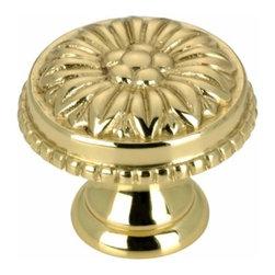 Richelieu Hardware - Richelieu Louis Xv  Brass Knob 25mm Polished Brass - Richelieu Louis Xv  Brass Knob 25mm Polished Brass