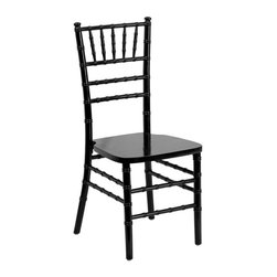 Flash Furniture - Flash Furniture Supreme Wood Chiavari Chair in Black - Flash Furniture - Dining Chairs - SZBLACKGG - If you've been to a wedding chances are you've sat in a Chiavari chair. Chiavari Chairs have become a classic in the event industry and are also highly popular in high profile entertainment events. This chair is used in all types of elegant events due to
