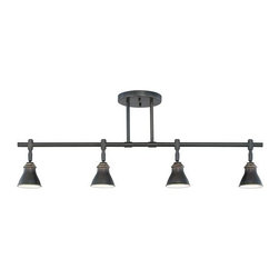 Quoizel - Quoizel QTR10054 4 Light 200 Watt Fixed Track Light Fixture from the Quoizel Tra - 4 Light 200 Watt Fixed Track Light Fixture from the Quoizel Track Lights CollectionAdd the perfect lighting complement to your home with the Quoizel Track Lights collection.Features: