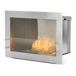 EcoSmart Fire - Firebox 800SS - The zero clearance, bioethanol fuelled Firebox 800SS is an elegant solution for rooms where space is at a premium.