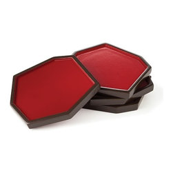 Diane von Furstenberg Radiant Lacquer Coasters - Everyone loves beautiful coasters, but who buys them for themselves? Treat someone with a pretty pop of red.