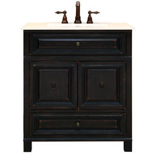 "Sunny Wood BH3021D 30"" Wood Vanity Cabinet from the Barton Hill Collection"