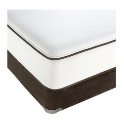 Simmons® Twin Beautyrest® Mattress - Our exclusive Simmons® Beautyrest® mattress requires no flipping, no rotating, no maintenance. High-quality construction features a patented, individually pocketed coil system to reduce the transfer of weight and movement from one side of the mattress to the other. Plush mattress top has a layer of patented Transflexion® Comfort Technology foam that's pre-stressed for improved durability, less compression and consistent comfort over time. Edges are constructed with a thick coil design for a more stable sleeping area, and a mesh border to improve airflow and breathability. Each mattress is covered in a luxurious stretch knit fabric that provides a smooth, even surface while conforming to contours and enhancing motion separation. Foundations sold separately.