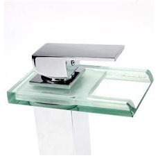 Newegg.com - Color Changing LED Faucet Glass Waterfall Bathroom Sink Faucet Cent