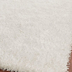 Safavieh - Shag Paris Shag 4'x6' Rectangle Off White - Off White Area Rug - The Paris Shag area rug Collection offers an affordable assortment of Shag stylings. Paris Shag features a blend of natural Off White - Off White color. Hand Tufted of Polyester the Paris Shag Collection is an intriguing compliment to any decor.