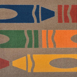 Joy Carpets - Jumbo Crayons� Rectangular: 5 Ft. 4 In. x 7 Ft. 8 In. Playful Patterns - Childre - - Backing - SoftFlex?  -Joy Tuff Rug� Lifetime Limited Warranty (See packaging for details)  - Certifications - CRI Green Label Plus�   - 100% STAINMASTER� Nylon.   - STAINMASTER� Technology: High-Twist, heat set, premium nylon maximizes appearance retention, resiliency, and the ability to withstand traffic.   - SoftFlex? Backing.   - All carpets are 100% recyclable.   - Made With the LOTUSFX FIBER SHIELD? which enables the carpets to stay 30% cleaner and last 50% longer, shed liquids and soil particles, and resist food and beverage stains.   - Lifetime antimocrobial protection gaurds against mold, mildew, and odor causing substances.   - Lifetime Static Protection that is built in and permanent.   - SoftFlex? soft woven Backing system eliminates wrinkling and curling.   - Class I Flammability Rating: Passes NFPA253 and ASTM E-648 tests.   - Serging: Bound and double-stitched for maximum durability.   - Resists color fading and discoloration.   - Made in the USA.   - Joy Carpets area rugs and carpets with STAINMASTER� have been awarded the CRI Green Label Plus� Certification ensuring all products exceed the most stringent Indoor Air Quality Standards and are best suited for living, working, and learning environments. Joy Carpets - 1729C-05