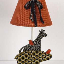 Cotton Tale Designs - Animal Stackers Decor Lamp - A quality baby bedding set is essential in making your nursery warm and inviting. All Cotton Tale patterns are made using the finest quality materials and are uniquely designed to create an elegant and sophisticated nursery. Part of the Animal Stackers collection is this hand painted, sculptured lamp and shade. A hippo and giraffe make this lamp perfect for baby's nursery or a toddlers room. Dust clean only. Manufacturer recommends 40 watt max bulb. Lamp stands 15 inches tall and shade in red measures 9 x 4 x 8. Great for a girl or a boy. Bulb not included.
