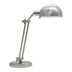 House Of Troy - House Of Troy Addison Adjustable Pharmacy Desk Lamp X-NS-054DA - CORD: 10' Brown