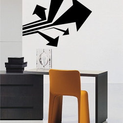 StickONmania - Directional Arrows Sticker - A cool vinyl decal wall art decoration for your home  Decorate your home with original vinyl decals made to order in our shop located in the USA. We only use the best equipment and materials to guarantee the everlasting quality of each vinyl sticker. Our original wall art design stickers are easy to apply on most flat surfaces, including slightly textured walls, windows, mirrors, or any smooth surface. Some wall decals may come in multiple pieces due to the size of the design, different sizes of most of our vinyl stickers are available, please message us for a quote. Interior wall decor stickers come with a MATTE finish that is easier to remove from painted surfaces but Exterior stickers for cars,  bathrooms and refrigerators come with a stickier GLOSSY finish that can also be used for exterior purposes. We DO NOT recommend using glossy finish stickers on walls. All of our Vinyl wall decals are removable but not re-positionable, simply peel and stick, no glue or chemicals needed. Our decals always come with instructions and if you order from Houzz we will always add a small thank you gift.