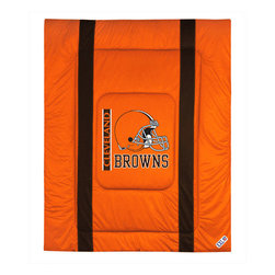 Sports Coverage - NFL Cleveland Browns Twin Comforter Sidelines Football Bed - Features: