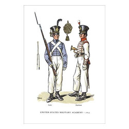 """Buyenlarge.com, Inc. - United States Military Academy, 1825 - Paper Poster 20"""" x 30"""" - Another high quality vintage art reproduction by Buyenlarge. One of many rare and wonderful images brought forward in time. I hope they bring you pleasure each and every time you look at them."""