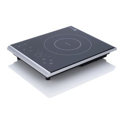 """Fagor - Portable Induction Cooktop - Portable Induction Cooktop Fagors pioneer leadership in induction technology sets our updated and more user-friendly Portable Induction Cooktop apart from the rest. The Induction Cooktop provides the fastest, safest, most efficient cooking experience. It uses 90% of energy produced while providing precise and instant heat. it also cook up to 50% faster than gas and electric which saves energy and money. New features include: 7 power settings relating to various cooking functions, 2 Quick Launch buttons that immediately take you to your desired level and a """"Quick Temperature Check"""" that displays the actual temperature. Features: -Temperature setting range is from 140°F  430°F and has 1800 watts of power. -7 power levels settings that are related to various cooking functions; (melt, warm, medium high, high, boil, sear and stir fry). -DigiDurable, easy to clean with a high quality Schott Ceran glass surface. -Includes 2 new Quick Launch buttons, Boil and Warm, which take the unit directly to either desired power level. -A Quick Temperature Check button that displays the actual cooking temperature. -Also includes a helpful quick operational guide that contains delicious recipes. -Safe to use, unit will not generate heat and will shut off automatically if no cookware is detected. -Includes a Child Safety Lock . -ETL approved. -Dimensions: 22.5x12.75x2.5."""
