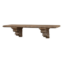 Uttermost - Uttermost 07658  McCoy Aged Wood Shelf - Rustic wood finished with a taupe gray wash.