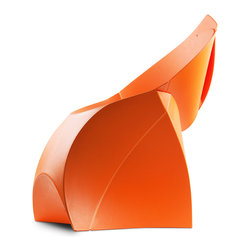 Flux USA - Flux Designer Chair - The flux chair. Our award-winning Dutch design. Looks like a giant envelope; turns into a designer chair. Simple! For inside your home or outdoor. Easy to clean and weatherproof polypropylene