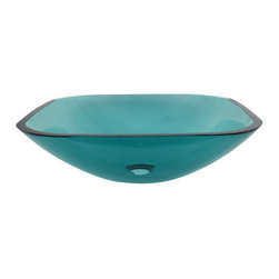 Kingston Brass - Green Tempered Glass Vessel Bathroom Sink without Overflow Hole - As the popularity of glass vessel sinks has grown, so has the number of beautifully hand-crafted products that practically demand exhibition. Glass vessel sinks can be displayed for their beauty as well as their functionality.