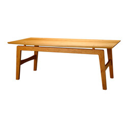Cherry Pond Fine Furniture - Milton Rectangular Coffee Table - Our Milton Coffee table is a great hybrid of Shaker Meets Mid Century Modern.  One of our most popular collections since we added mid century modern to our line up.  Shown in Cherry with Natural Oil Finish.