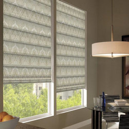 Waverly Roman Shades - Waverly Palace Sari Roman Shades an old world tradition and classic styling are combined to bring this intricate design, choose between a tone on tone design or one that combines many colors to create an unforgettable impression. Waverly Palace Sari roman shades are available in light filtering and room darkening fabrics, choose flat fold option for a classic look or the looped fold option for an elegant appeal.