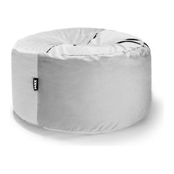 Jaxx Bean Bags - Jaxx 4 ft Cocoon Bean Bag, White - The Cocoon has as much functionality as it does style. In the smaller size, this bean bag is perhaps the perfect platform for meditation or doing arts and crafts on the floor, not to mention it is heaven to lay back and relax in. Plus, when you flip it onto its side, the Cocoon transforms into a retro-style bean bag with plenty of back support and cushiony foam to sink into. A true metamorphoses really. We stuff our Saxx with ECOFOAM and cover it in the finest, most breathable materials, so you can be enveloped with comfort without having to worry about spills or stains. When it gets dirty just throw the cover in the wash for it to return good as new.