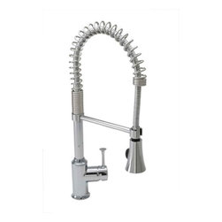 American Standard - American Standard 4332.350.002 Polished Chrome Pekoe Pekoe - Product Features:  Fully covered under American Standard s limited lifetime faucet warranty Forged from the highest quality brass alloy Superior finishing process - finishes are covered under limited lifetime warranty Engineered to look beautiful and function flawlessly With a drip-free performance this faucet is built to last Insulated faucet spray head Pre-rinse, semi-professional coiled spring neck Multi-function spray / stream spray wand Smooth single handle operation Spout swivels 360 degrees to allow for unobstructed sink access High-arch gooseneck spout further allows for unobstructed sink access ADA compliant Low lead compliant - complies with federal and state regulations for lead content Designed to easily connect to standard U.S. plumbing supply bibs Ultra secure mounting assembly All necessary mounting hardware included For three hole installations, order optional deck plate: M961850-0020A (chrome) or M961850-0750A (stainless)  Product Technologies:  Pre-Rinse Style: Those seeking a kitchen faucet with substance will be very pleased with the American Standard Pekoe pre-rinse, semi-professional faucet. Industrious by nature, the Pekoe strikes a perfect balance between the functionality of commercial dish-washing station faucets, and the design trends of high-end modern day kitchens. Read the reviews. People love this faucet. Lifetime Warranty: As an American company, American Standard faucets are built tough. Their products live longer in one place than most people do. Drip-free ceramic disc valves, high-grade lead-free brass alloys, and stainless steel drain cables name just a few of the features which make American Standard bathroom faucets the