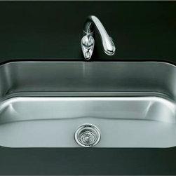 KOHLER - KOHLER K-3376-NA Undertone Extra-Large, Single-Basin Undercounter Kitchen Sink - KOHLER K-3376-NA Undertone Extra-Large, Single-Basin Undercounter Kitchen Sink