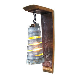 "Wine Country Craftsman - Tuscan - ""Classic"" - Wall Sconce with Corba pendant - Tuscan - ""Classic"" - Wall Sconce with Corba pendant - 100% Recycled"