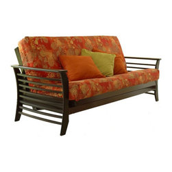 LifeStyle Solutions - Lifestyle Solutions Fashion Hardwood Dio Futon Frame in Espresso-Full - Lifestyle Solutions - Futons - FB2DIOJV FM4FLDJV - Warm up your den living room dorm room or even your home office with the Lifestyle Solutions Dio sofa bed and futon. It features rounded armrests gently tapered legs and horizontal slats. Inspired by the Mission designs of America at the turn of the last century it has simple lines smoothly shaped for a natural flowing effect sure to lend a touch of serenity and rest to your space.