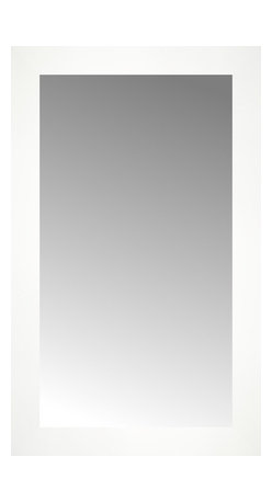 """Posters 2 Prints, LLC - 15"""" x 24"""" White Wide Cube Custom Framed Mirror - 15"""" x 24"""" Custom Framed Mirror made by Posters 2 Prints. Standard glass with unrivaled selection of crafted mirror frames.  Protected with category II safety backing to keep glass fragments together should the mirror be accidentally broken.  Safe arrival guaranteed.  Made in the United States of America"""
