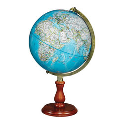 National Geographic - Hudson - National Geographic World Globe - The Hudson world globe is named after the English adventurer Henry Hudson, who in addition to many other places, explored the rivers around New York City vicinity in early 17th century.