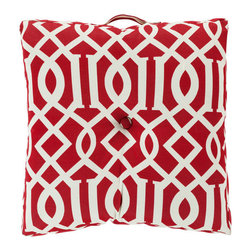Surya Rugs - 22-Inch Square Venetian Red and Papyrus Patterned Polyester Floor Cushion - - 22 x 22 100% Polyester Floor Cushion.   - For more than 35 years Surya has been synonymous with high quality innovation and luxury.   - Our designers have masterfully created some of the most cutting edge and versatile pieces to bring out the best in every room.   - Encompassing their expert understanding of the latest trends in fashion and interior design each product is a perfect combination of color pattern and texture to accommodate the widest range of tastes.   - With Surya the best in design and quality is at your fingertips.   - Pantone: Venetian Red Papyrus.   - Made in the U.S.A.   - Care Instructions: Spot Clean.   - Cover Material: 100% Polyester.   - Fill Material: Polyester. Surya Rugs - ZZ416-2222FC