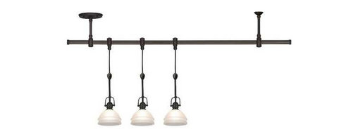 Sea Gull Lighting - Trenton Rail Kit - 94514-71 - Classic styling and versatility make this three-light pendant rail kit a great choice for your kitchen island. The rail is flexible and can be bent in any shape needed. The kit includes 3 pendants, 10 feet of cuttable hanging cable for each pendant, a flexible 46-inch rail, one power feed ceiling support, one standard ceiling support, and two end caps. 120 volt. Takes (3) 40-watt halogen G9 bulb(s). Bulb(s) sold separately. Dry location rated.