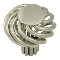 Stone Mill Hardware - Stone Mill Hardware Satin Nickel Cornwall Birdcage Cabinet Knob - Stone Mill Hardware - Satin Nickel Cornwall Birdcage Cabinet Knob