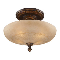 Elk Lighting - EL-08095-AGB Restoration 4-Light Semi-Flush in Golden Bronze - A grouping of ceiling lighting developed with a discriminating concern for preserving historic lighting and architectural designs. This offering of expert restoration and replication fixtures is offered in a wide variety of styles and sizes.