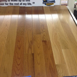 Solid wood - Landmark White Oak Flooring. Three colors available-butterscotch, gunstock, and natural