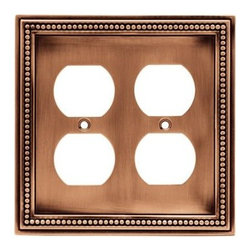 Liberty Hardware - Liberty Hardware 64246 Beaded WP Collection 4.96 Inch Switch Plate - A simple change can make a huge impact on the look and feel of any room. Change out your old wall plates and give any room a brand new feel. Experience the look of a quality Liberty Hardware wall plate. Width - 4.96 Inch, Height - 5 Inch, Projection - 0.3 Inch, Finish - Aged Brushed Copper, Weight - 0.46 Lbs.