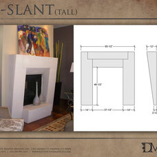 Modern Indoor Fireplaces by Distinctive Mantel Designs, Inc
