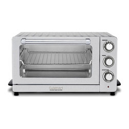 Cuisinart - Cuisinart Convection Toaster Oven Broiler (Refurbished) - This convection toaster oven from Cuisinart features a 0.6 cubit foot capacity which is able to hold a 12-inch pizza. It has four manual settings and features a non-stick interior for easy cleaning and a slide-out crumb tray.