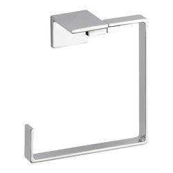 Delta Towel Ring - 77746 - Inspired by slim lines and graceful arc of a ribbon, the Vero bath collection offers a high-end, modern look to the bath.