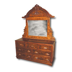 EuroLux Home - New Chest of Drawers Victorian Mirror - Product Details