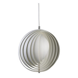Verpan - Moon Pendant, White - This design classic, Panton's Moon lamp, is eye-catching and casts great shadows.