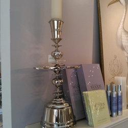 JTs Furniture 2013 - Nickel Finish Candlestick Holders (Large)