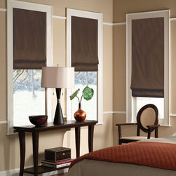Blindsgalore - Blindsgalore Designer Roman Shades: Solid Colors - Blindsgalore Designer Roman Shades: Solid Colors are the perfect solution for those who love the softness and presence of fabric drapes and practicality and functionality of pull-down shades.