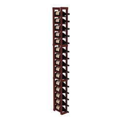 Wine Racks America - 1 Column Magnum/Champagne Cellar Kit in Redwood, Cherry - Talk about magnum force! This sturdy wooden wonder accommodates large bottles and looks great doing it. So go ahead, order that case of champagne!